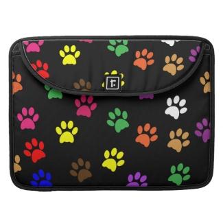 Paw print dog pet colorful fun macbook air sleeve