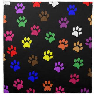 Paw print dog pet colorful fun table napkin