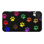 Paw print dog pet colorful  iphone 4 case mate i/d