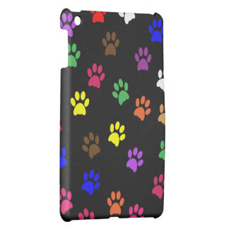 Paw print dog pet colorful pawprints cute, gift iPad mini cases