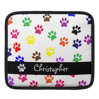 Paw print dog pet custom boys name ipad sleeve