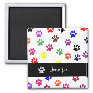 Paw print dog pet custom girls name fun magnet