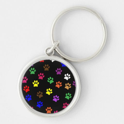 Dog Paw Picture Keychain