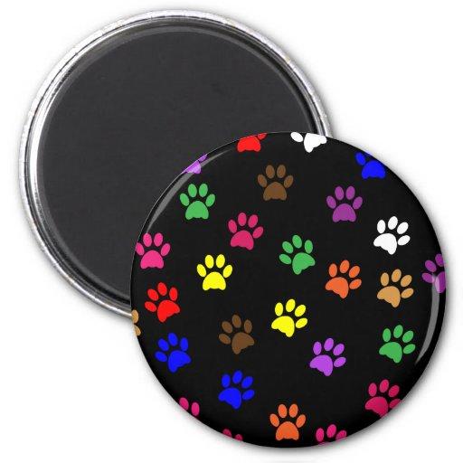 Paw print dog pet fun colorful magnet