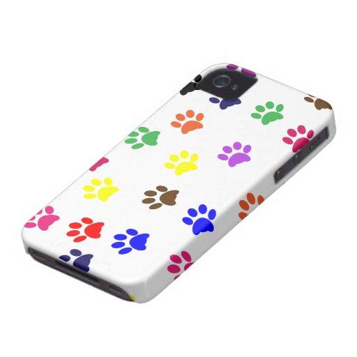 Paw print dog pet fun iphone 4 case mate barely