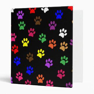 Paw print dog pet fun photo album, binder folder