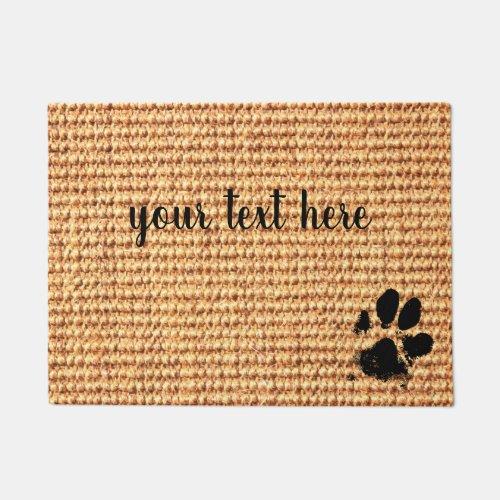 Paw Print Doormat _ Personalized Doormat _ Dog Paw
