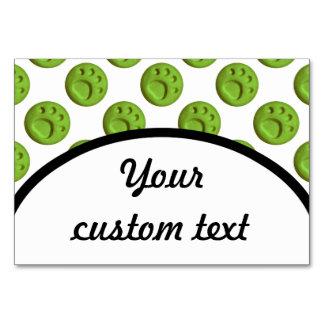 Paw Print Dot - Green Card