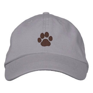 Paw Print Embroidered Baseball Cap
