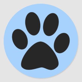 Paw Print Envelope Seal Stickers