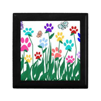 Paw print flower garden Mass Production Jewelry Box