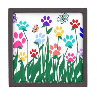 Paw print flower garden Mass Production Keepsake Box