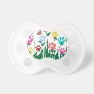 Paw print flower garden Mass Production Pacifier