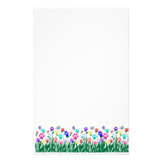 Paw print flower garden Mass Production Stationery