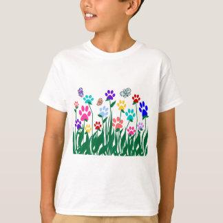 Paw print flower garden Mass Production T-Shirt