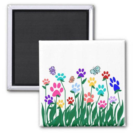 Paw print garden magnet
