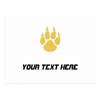 Paw Print Gold Post Cards
