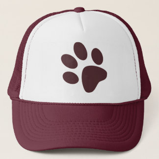 Paw Print Hat - Maroon