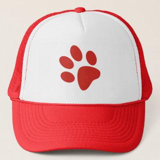 Paw Print Hat - Red