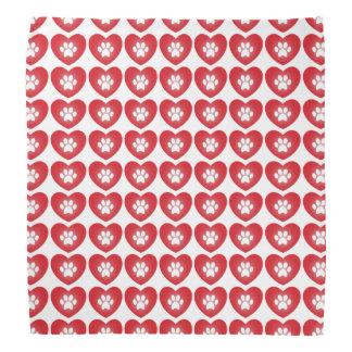 Paw Print Heart Bandana