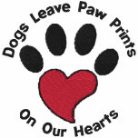 Paw Print Heart Embroidered Hoody