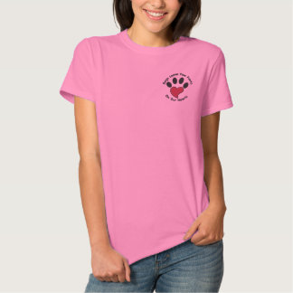 Paw Print Heart Embroidered Shirt