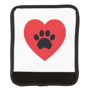 Paw Print Heart Luggage Handle Wrap