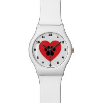 Paw Print Heart Numbered May28th Wristwatch