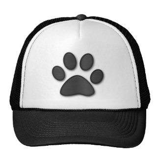 paw print in black - customizable with your text trucker hat