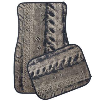 Paw print in dirt road car / truck floor mats