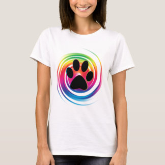 Paw Print in Rainbow Swirl T-Shirt