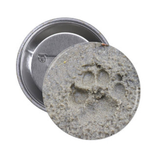 Paw Print In The Sand Button