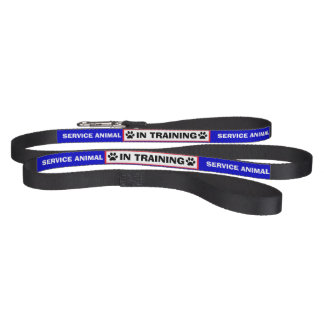 Paw Print IN TRAINING Service Animal Dog Leash