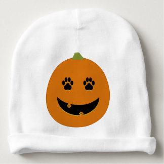 Paw Print Jack-o-Lantern Baby Hat