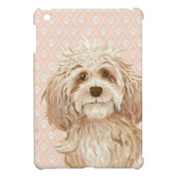 Case Savvy iPad Mini Glossy Finish Case with Labradoodle Phone Cases design