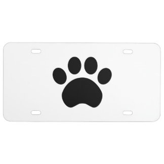 Paw Print License Plate