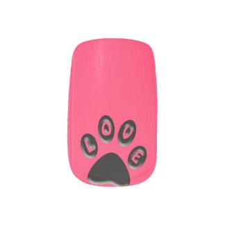 Paw Print, love, 3D custom colour Minx® Nail Wraps