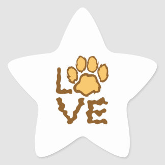 PAW PRINT LOVE STAR STICKERS