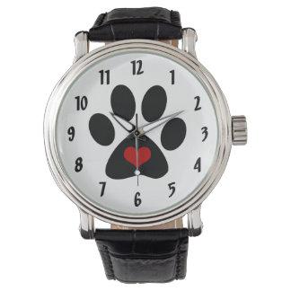 Paw Print Love Wrist Watch