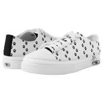Paw Print Low Top Canvas Shoes