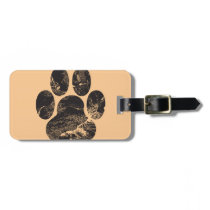 Paw Print Luggage Tag