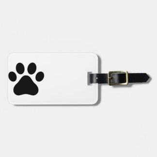 Paw print tag for bags