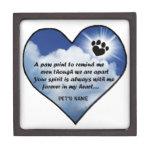 Paw Print Memorial Poem Premium Gift Box