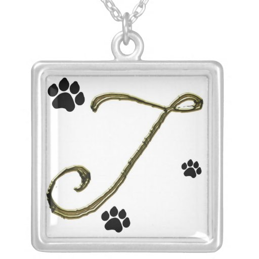 Paw Print Monogram Necklace
