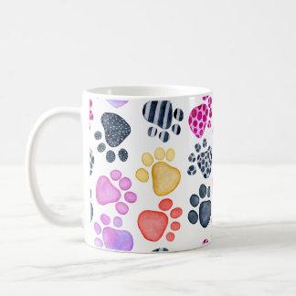 Paw Print Mug - Fun colorful prints and patterns