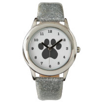 Paw Print Numbered Wristwatch