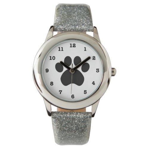Paw Print Numbered Wristwatch