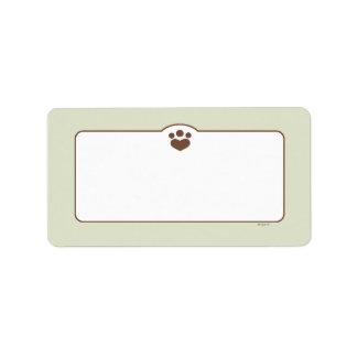 Paw Print Off-Leash Art™ Household Pet Custom Label