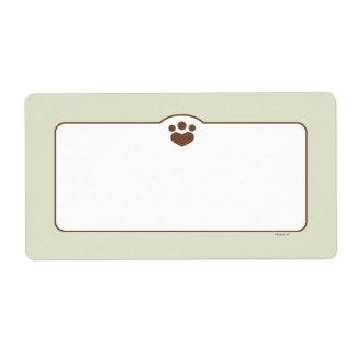 Paw Print Off-Leash Art™ Pet Bin Organization Label