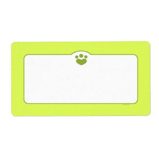 Paw Print Off-Leash Art™ Pet Olive Lime Label